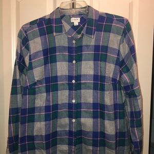 Brand new teal and gray jcrew flannel